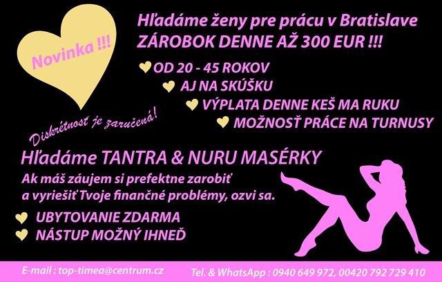 Práce pro ženy v Bratislavě